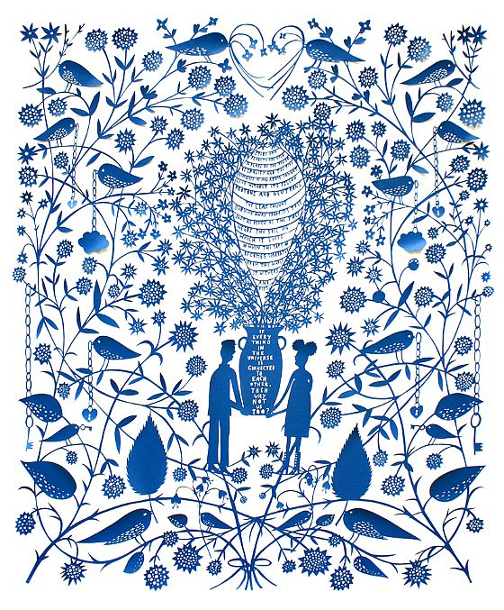 modflowers: paper cut by Rob Ryan