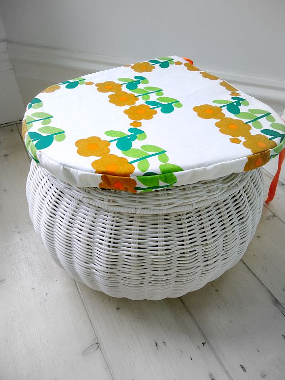 modflowers: vintage fabric chair pad commission
